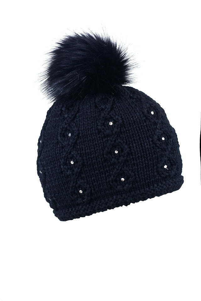 SABBOT black knit hat