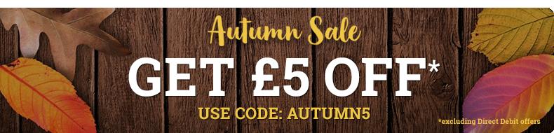 Autumn Sale - £5